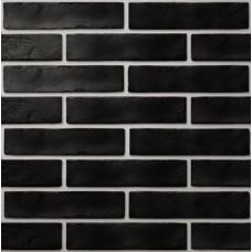 Плитка настенная GOLDEN TILE Brickstyle 250х60 THE STRAND черный 08С020