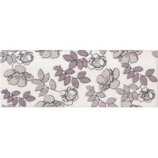 Декор KERAMA MARAZZI Ньюпорт 400x150 цветы фиолет