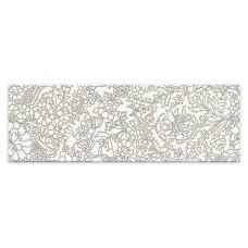 Декор MEI Pret a Porter 750x250 white iserto flower O-PRP-WIU051