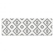 Декор MEI Pret a Porter 750x250 black&white mosaic O-PRP-WIU441-16