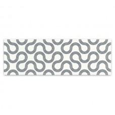 Плитка настенная MEI Spin 750x250 white-black geo O-SPI-WTU441