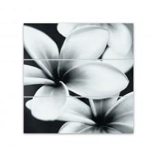 Декор MEI Pret a Porter 750x750 стеклянное панно Flower grey O-PRP-WPU092D